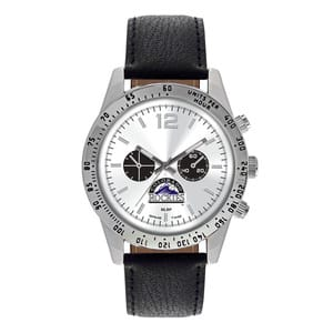 Colorado Rockies Mens Quartz Analog Letterman Watch