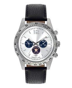 Houston Astros Mens Quartz Analog Letterman Watch