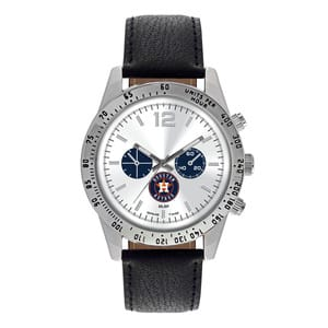 Houston Astros Mens Quartz Analog Letterman Watch