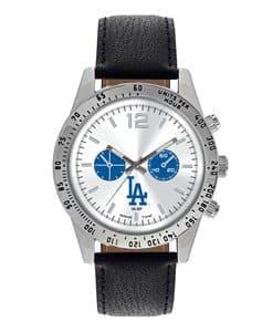 Los Angeles Dodgers Mens Quartz Analog Letterman Watch