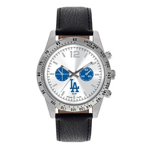 Los Angeles Dodgers Mens Quartz Analog Letterman Watch