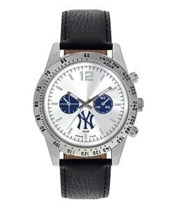 New York Yankees Mens Quartz Analog Letterman Watch