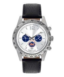New York Mets Mens Quartz Analog Letterman Watch