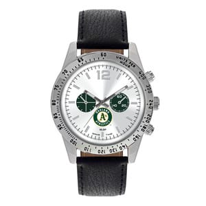 Oakland Athletics Mens Quartz Analog Letterman Watch