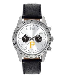 Pittsburgh Pirates Mens Quartz Analog Letterman Watch