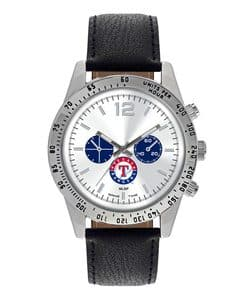 Texas Rangers Mens Quartz Analog Letterman Watch