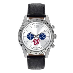 Washington Nationals Mens Quartz Analog Letterman Watch