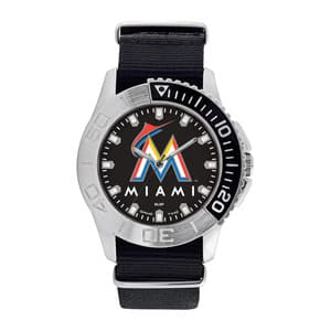 Miami Marlins Mens Quartz Analog Starter Watch
