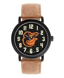 Baltimore Orioles Mens Quartz Analog Throwback Watch