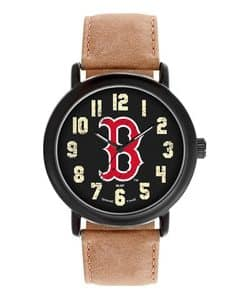Boston Red Sox Mens Quartz Analog Throwback Watch