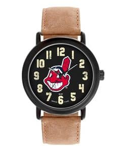 Cleveland Indians Mens Quartz Analog Throwback Watch