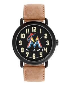 Miami Marlins Mens Quartz Analog Throwback Watch