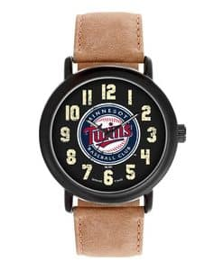 Minnesota Twins Mens Quartz Analog Throwback Watch