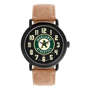 Oakland Athletics Mens Quartz Analog Throwback Watch