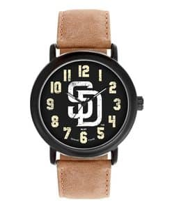 San Diego Padres Mens Quartz Analog Throwback Watch