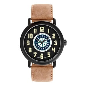 Seattle Mariners Mens Quartz Analog Throwback Watch