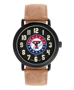 Texas Rangers Mens Quartz Analog Throwback Watch