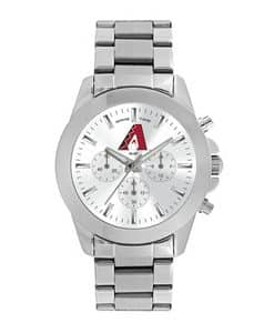 Arizona Diamondbacks Ladies Quartz Analog Silver Knockout Watch