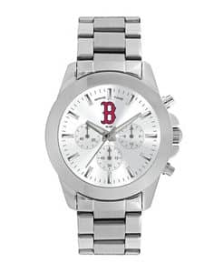 Boston Red Sox Ladies Quartz Analog Silver Knockout Watch