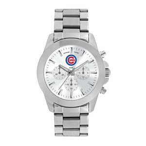 Chicago Cubs Ladies Quartz Analog Silver Knockout Watch