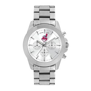 Cleveland Indians Ladies Quartz Analog Silver Knockout Watch