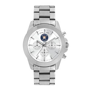 Houston Astros Ladies Quartz Analog Silver Knockout Watch