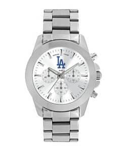 Los Angeles Dodgers Ladies Quartz Analog Silver Knockout Watch