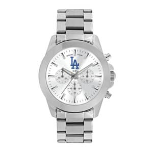 Los Angeles Dodgers Ladies Quartz Analog Silver Knockout Watch