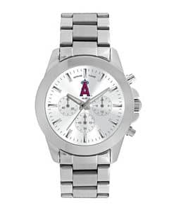 Los Angeles Angels Ladies Quartz Analog Silver Knockout Watch