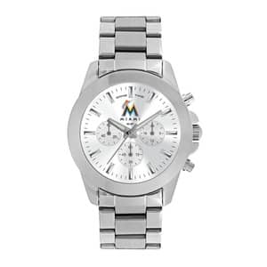 Miami Marlins Ladies Quartz Analog Silver Knockout Watch