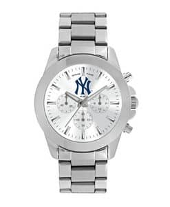 New York Yankees Ladies Quartz Analog Silver Knockout Watch