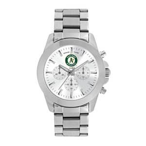 Oakland Athletics Ladies Quartz Analog Silver Knockout Watch