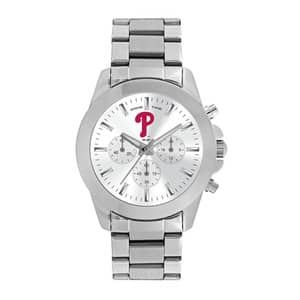Philadelphia Phillies Ladies Quartz Analog Silver Knockout Watch