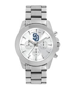 San Diego Padres Ladies Quartz Analog Silver Knockout Watch