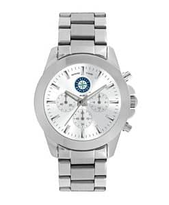 Seattle Mariners Ladies Quartz Analog Silver Knockout Watch
