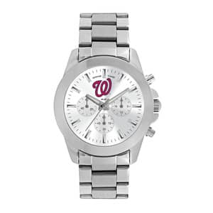 Washington Nationals Ladies Quartz Analog Silver Knockout Watch
