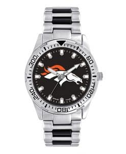 Denver Broncos Mens Quartz Analog Silver Heavy Hitter Watch