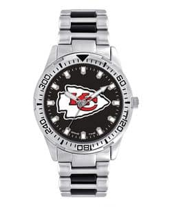 Kansas City Chiefs Mens Quartz Analog Silver Heavy Hitter Watch