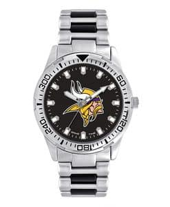 Minnesota Vikings Mens Quartz Analog Silver Heavy Hitter Watch