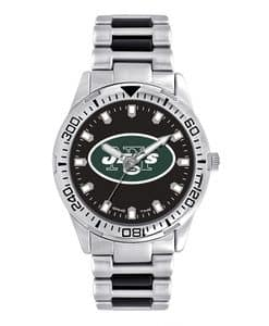 New York Jets Mens Quartz Analog Silver Heavy Hitter Watch