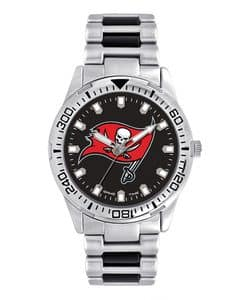 Tampa Bay Bucaneers Mens Quartz Analog Silver Heavy Hitter Watch
