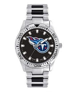 Tennessee Titans Mens Quartz Analog Silver Heavy Hitter Watch