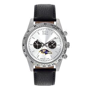 Baltimore Ravens Mens Quartz Analog Letterman Watch