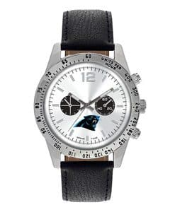 Carolina Panthers Mens Quartz Analog Letterman Watch