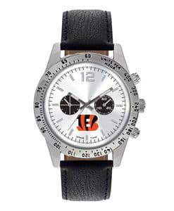 Cincinnati Bengals Mens Quartz Analog Letterman Watch