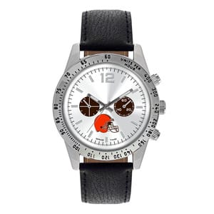 Cleveland Browns Mens Quartz Analog Letterman Watch