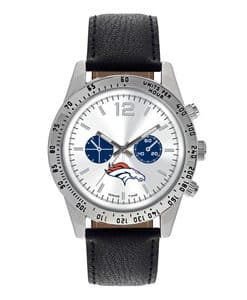 Denver Broncos Mens Quartz Analog Letterman Watch