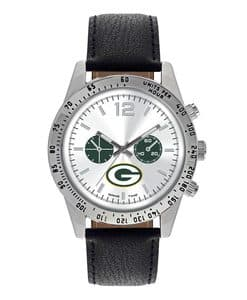 Green Bay Packers Mens Quartz Analog Letterman Watch