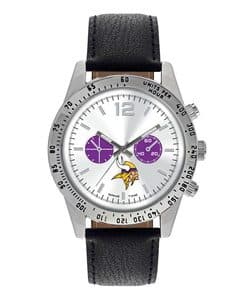 Minnesota Vikings Mens Quartz Analog Letterman Watch