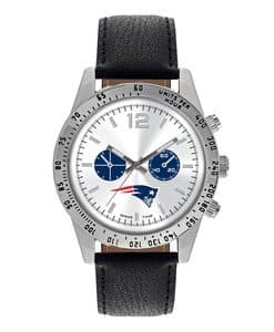 New England Patriots Mens Quartz Analog Letterman Watch